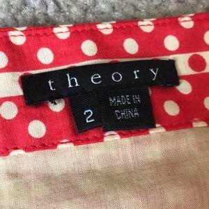 Theory Polka Dot Skirt